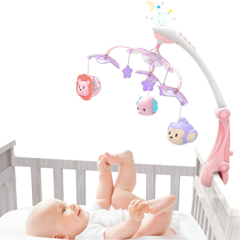 growthpic Musical Cuna móvil con Función de STAR Proyector Nursery ...