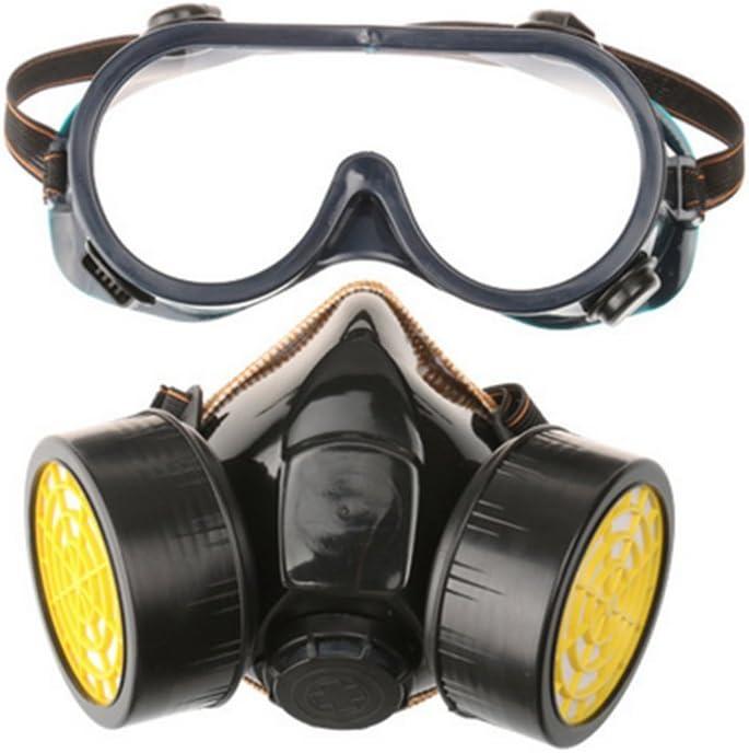 Delmkin – Mascarilla respiratoria con carbón activo, con 2filtros contra polvo, pesticidas, formaldehído, pintura