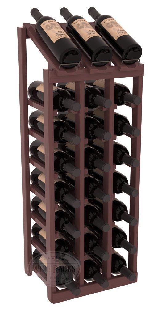 Wine Racks America Ponderosa Pine 3 Column 8 Row Display Top Kit. 13 Stains to Choose From!