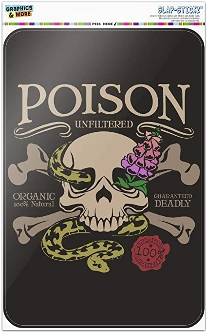 Poison Skull Crossbones Snake Foxglove Premium Gift Wrap Wrapping Paper Roll