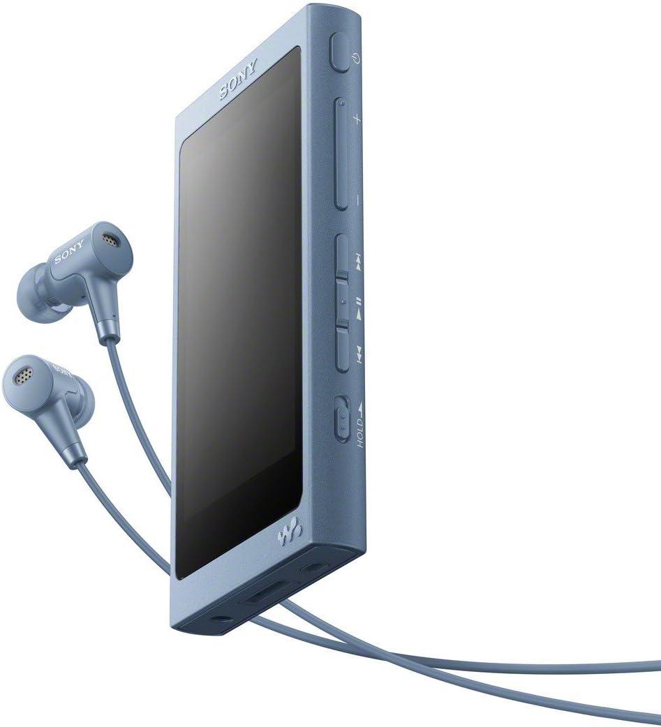 Sony NWA45HN - Reproductor de Audio Walkman (16 GB, Hi-Res Audio, DSD, DSEE HX, S-Master HX, NFC, Noise Cancelling Digital, 45 Horas de reproducción, Incluye Auriculares intraurales), Azul Lunar