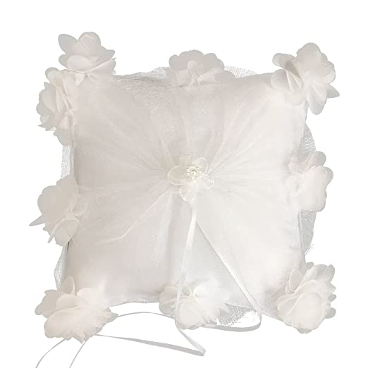 Luoem - Cojín para anillos de boda, diseño de flor de novia ...