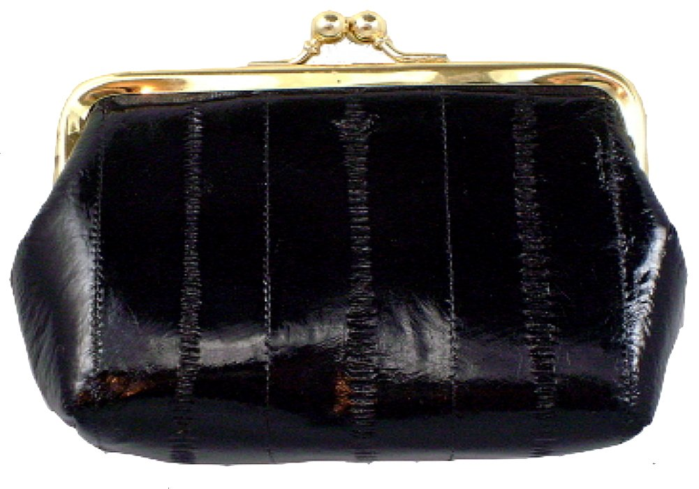 Medium Size Eel Skin Coin Purse style - E905 by Marshal