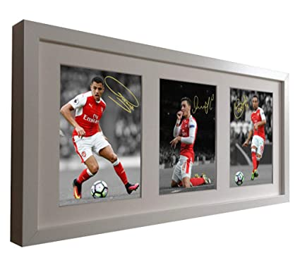 ef710a4bd Amazon.com  Signed Soccer White 2016-17 Arsenal Triple Picture ...
