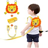 Lehoo Castle Toddler Leash for Walking, Safety Harness with Induction Lock for Kids, Toddler Safety Harnesses Leashes, Anti Lost Wrist Link Safety Wrist Link for Toddlers