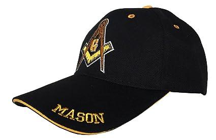 18772b21266d7 Image Unavailable. Image not available for. Color  Freemason 3D Embroidered  Adjustable Hat Mason Masonic Lodge Baseball Cap (Black ...