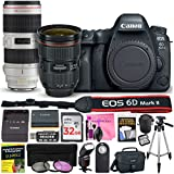 Canon EOS 6D Mark II 26.2 MP DSLR Camera (Wi-Fi) PROFESSIONAL PHOTOGRAPHER Multi-Lens Kit with EF 24-70mm f/2.8L II USM Lens, EF 70-200mm f/2.8L IS II USM Telephoto Zoom Lens & Camera Works Bundle