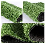 Ez4garden Three-Toned Artificial Grass 2cm Blade Height Natural Lawn Landscape Fake Grass Artificial Anti-wear Turf Tiles Multiple Applications Spring Color Many Sizes Optional