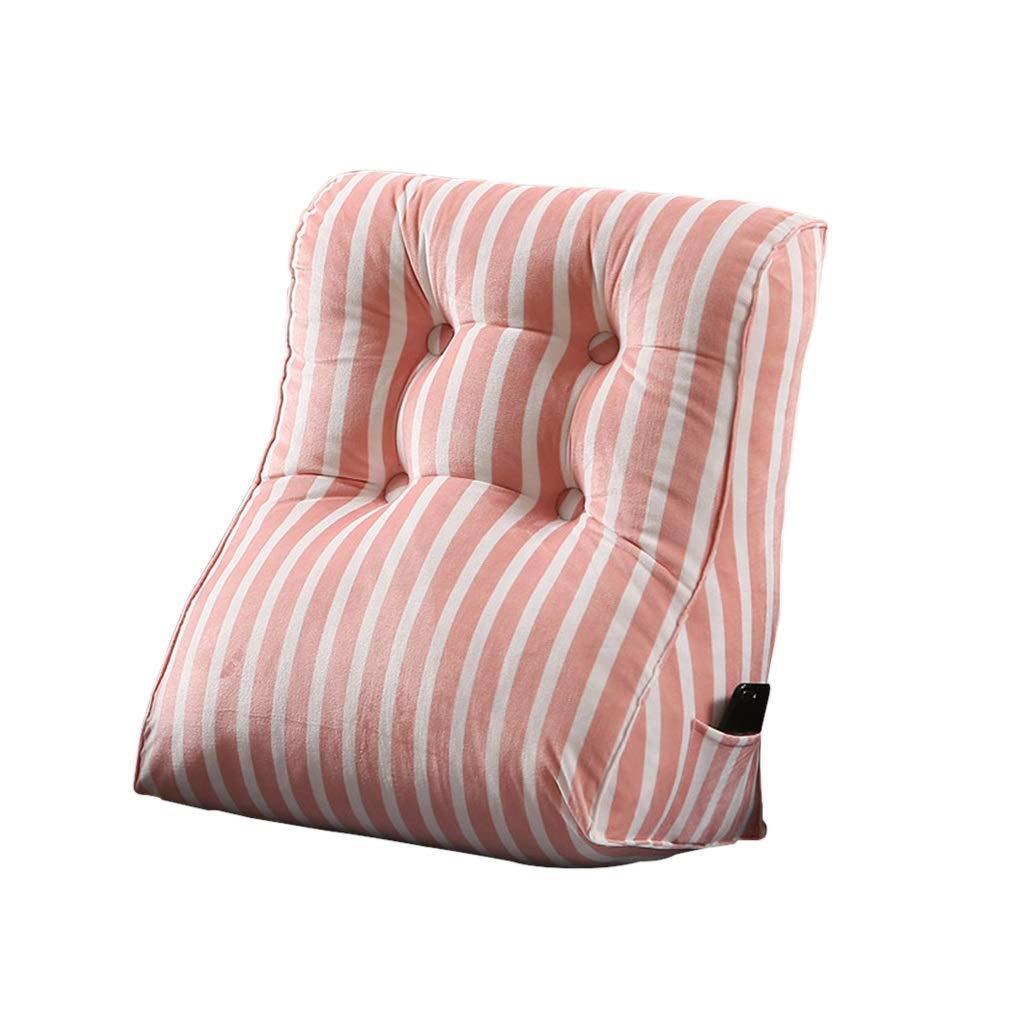 DUHUI Keilkissen, als Rückenkeilkissen im Bett und auf dem Sofa, Dreieckskissen mit cleverer Form, Sofa & Bettkeilkissen (Farbe   Rosa, größe   45x55x30cm)