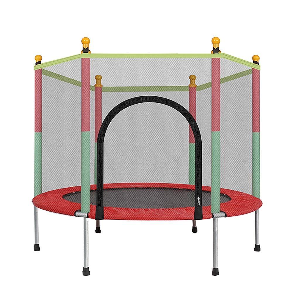 Trampoline 55 Zoll Indoor mit Safety Pad und Handlauf, Fun Mini Fitness Trampolin für Kinder Erwachsene - Max Load 440lbs Springen Bett