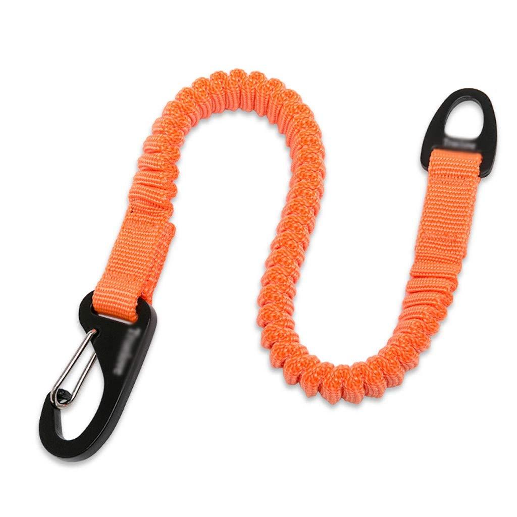 orange Large orange Large Dog Leash Pet Elastic Buffer Rope Medium and Small Dog Explosion-Proof Telescopic Rope (color   orange, Size   L)