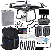 DJI Phantom 4 PRO+ PLUS Obsidian Edition Drone Quadcopter Includes Display (Black) Essential Backpack Bundle