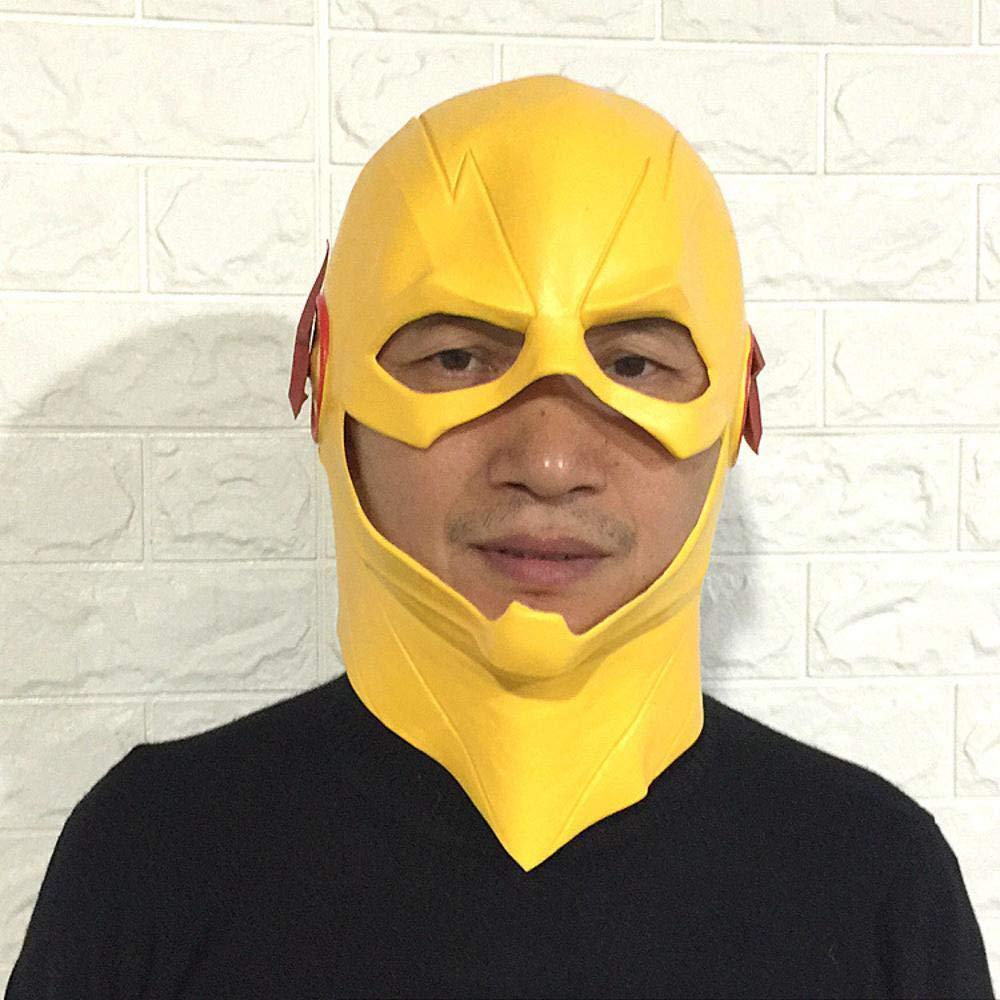 Littlefairy Maschera Halloween,Flash Maschera Parrucca Puntelli di Prestazioni di Costume Ballo Copricapo in Lattice