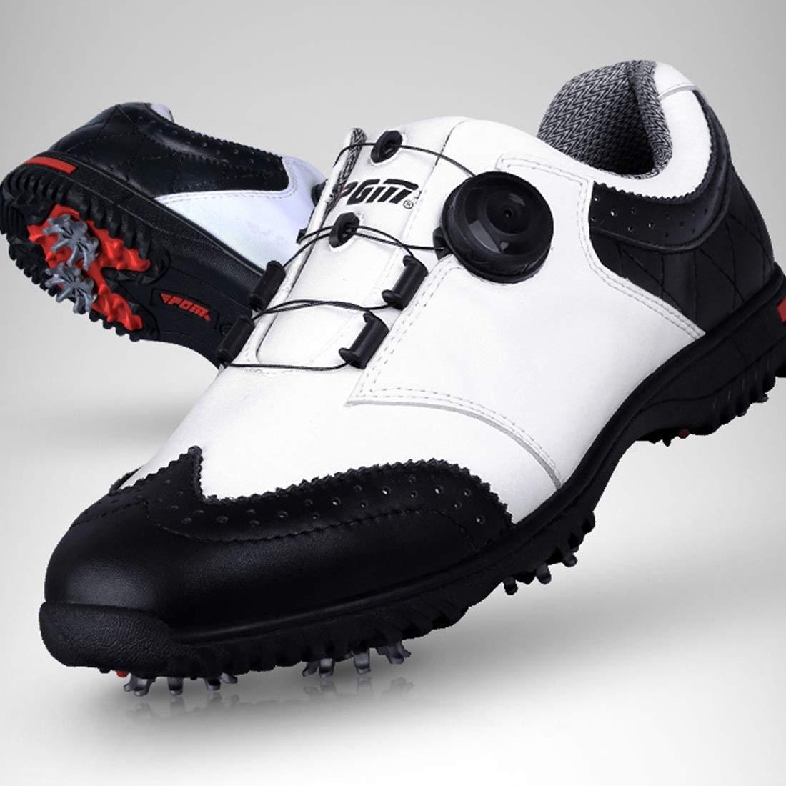 HappyPlatform Golfschuhe Spikes weniger Schuhe Für Wasserdichte Anti-Rutsch-Kuhfell-Rotationstasten Abriebfestigkeit multifunktional Für Schuhe den Außenbereich (Farbe : schwarz, Größe : 40) - 81f71e