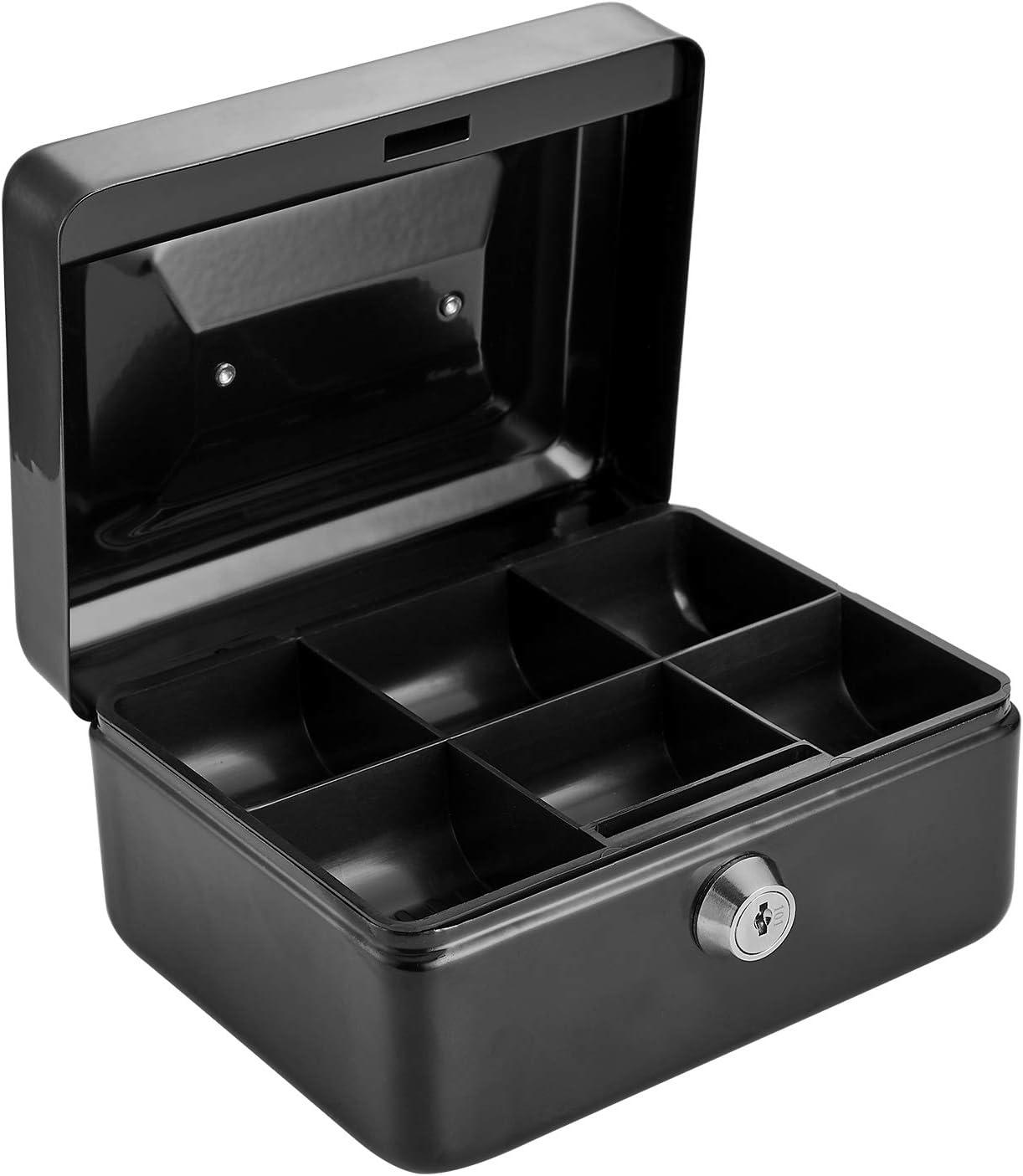 color puede variar 15,2 cm Tech Traders Caja de metal con 2 llaves