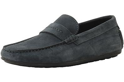 6f95f350ae2 Amazon.com  Hugo Boss Men s Dandy Open Grey Suede Driving Loafers ...