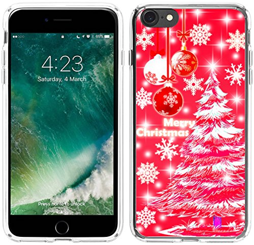 6S Case Christmas,Hungo Thin Soft TPU Silicone Protective Cover Shell Compatible with iPhone 6S/6 Red Christmas Tree Merry Christmas Sayings Scene Story Design (The Boy And The Apple Tree Story)