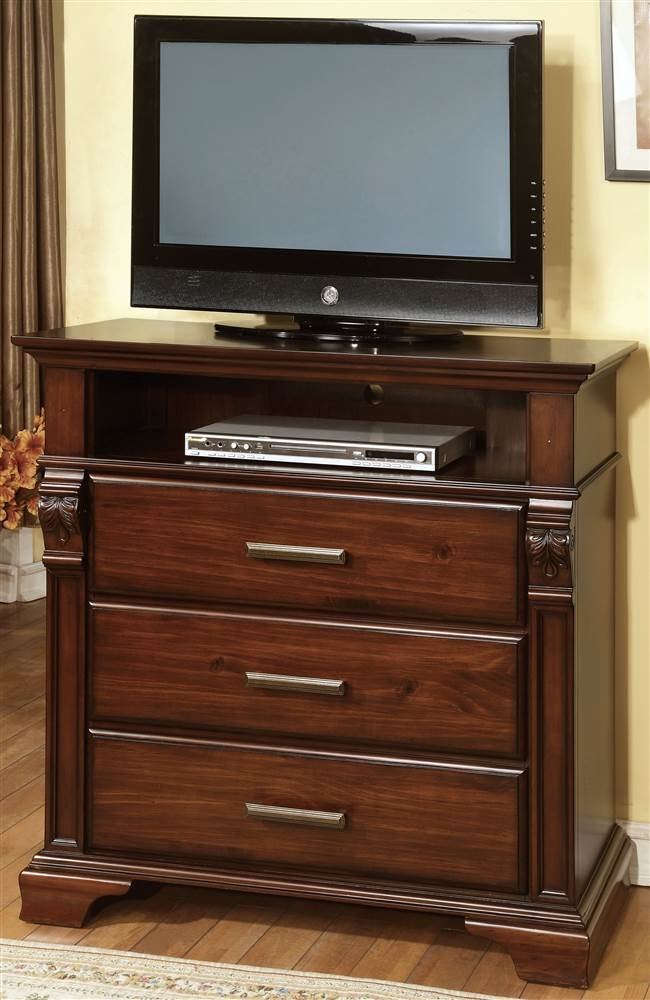 Transitional 3-Drawer Media Chest by Furniture of America