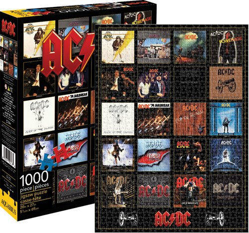 Aquarius AC DC Discography 1000 Piece Jigsaw -