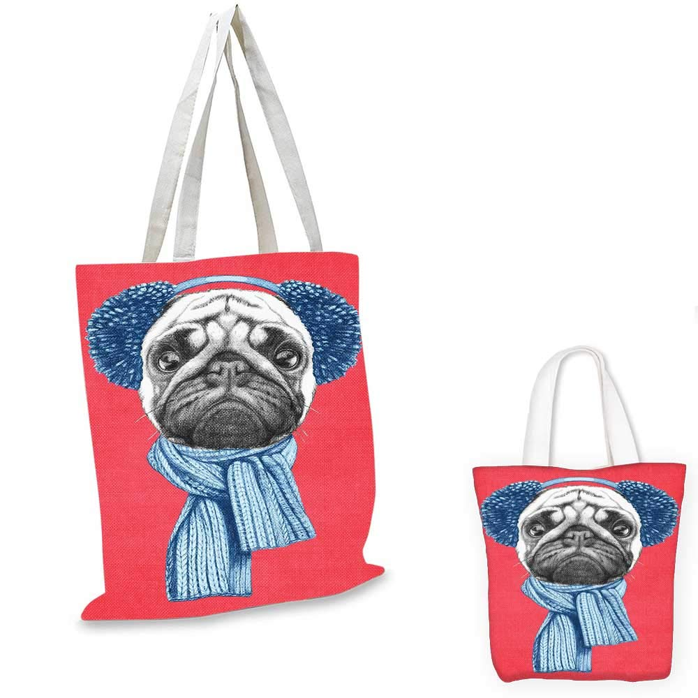 PugCute Dog with Lovely Girl Loving Your Pets Bonding with the AnimalsForest グリーンペールブラウンピンク。 12