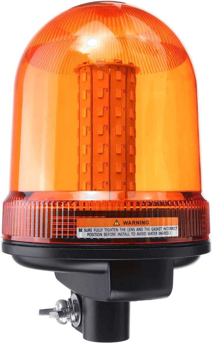 DC12-24V 80 LED Techo giratorio intermitente Baliza Estroboscópica Tractor Luz de señal de advertencia