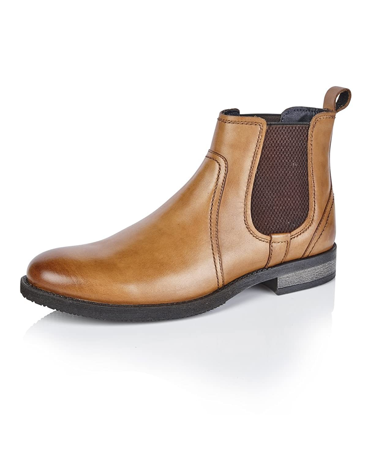 Silver Street Solebay Newton Tan Quality Leather Chelsea Boots:  Amazon.co.uk: Shoes & Bags