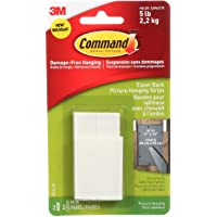 Command Easel Back Picture Hanging Strips, Medium, White, 2 Sets of Medium Picture Hanging Strips 2 Spacers