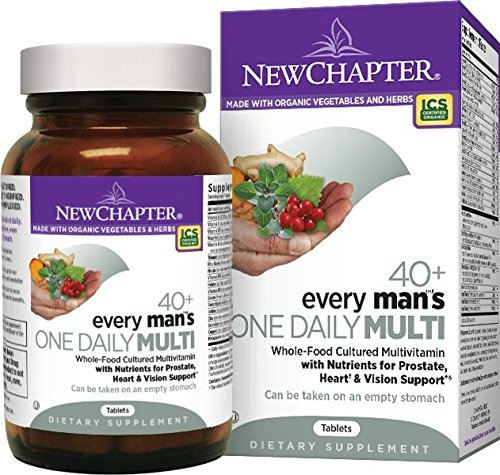 New Chapter Every Man's One Daily 40 Plus Multivitamin Tablets