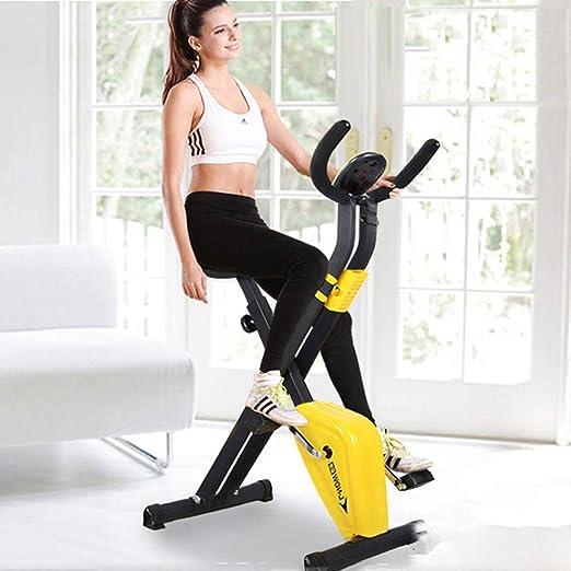 HyXia Bicicleta Estática con Respaldo SillíN Ajustable Y Pantalla LCD para El Entrenamiento De Brazos Y Piernas Minibicicleta Estática Plegable: Amazon.es: Hogar