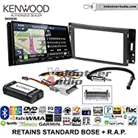 Kenwood Excelon DNX994S Double Din Radio Install Kit with GPS Navigation Apple CarPlay Android Auto Fits 2005-2013 Chevrolet Corvette, 2006-2009 Hummer H3 (OE amplified systems and Onstar)