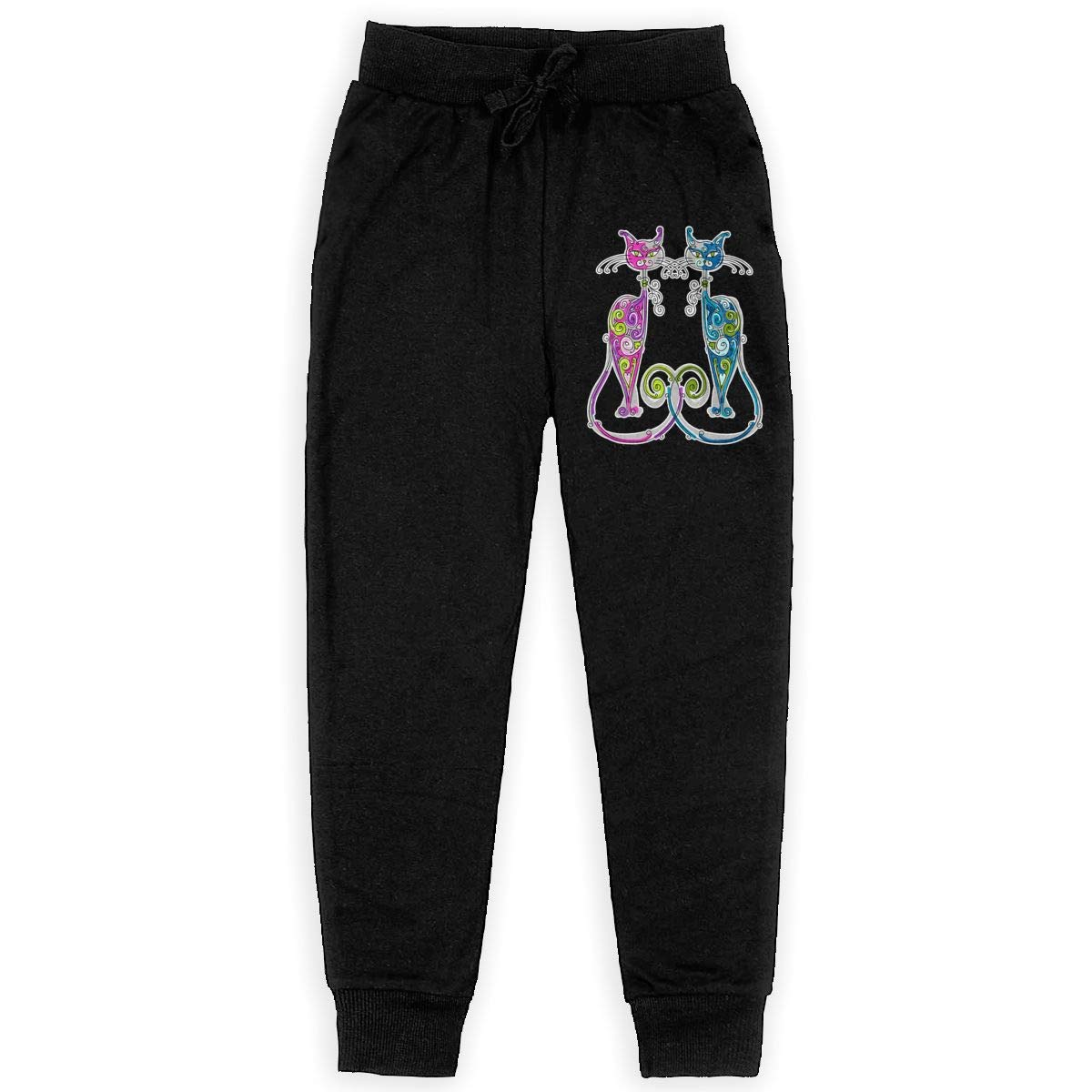 Joggers for Boys Pink and Blue Cat Kids Joggers Pants//Athletic Pants Comfortable Cotton Sweatpants