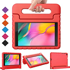 BMOUO for Samsung Galaxy Tab A 8.0 2019 Case SM-T290/T295, Galaxy Tab A 8.0 Case 2019, Shockproof Light Weight Protective Handle Stand Kids Case for Galaxy Tab A 8.0 inch 2019 Without S Pen - Red