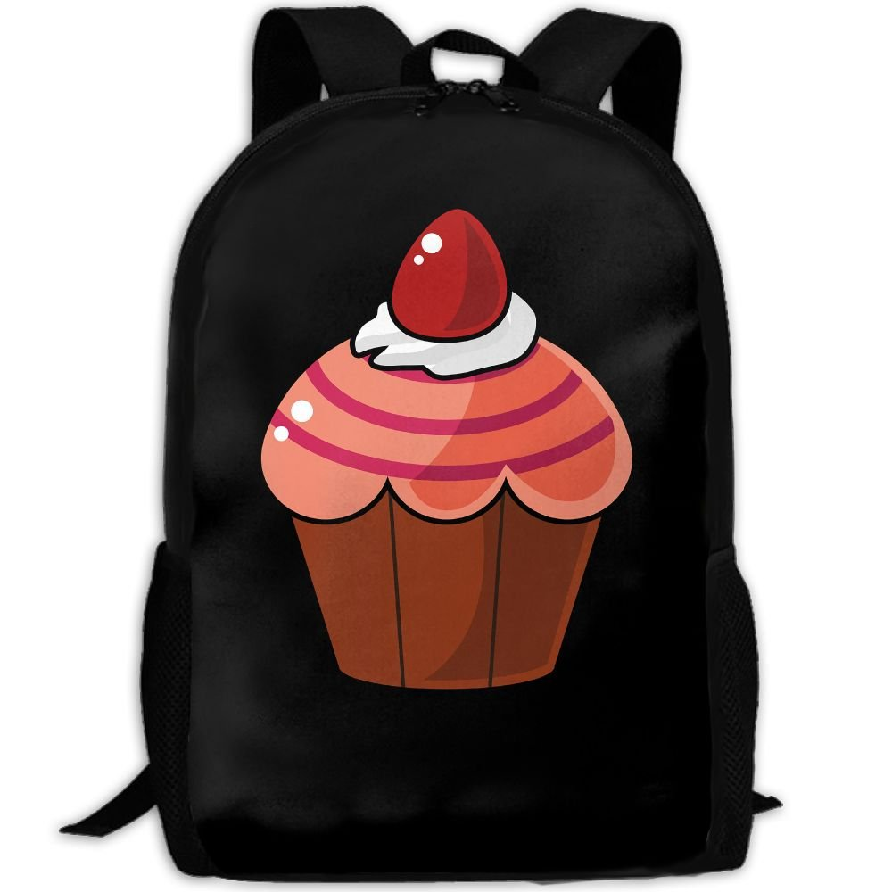 Cupcake Double Shoulder Backpacks For Adults Traveling Bags Full Print Fashion