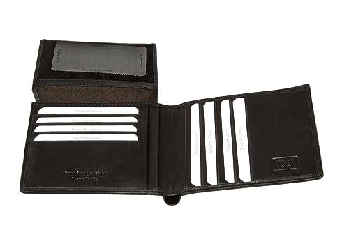Cartera BIAGIOTTI hombre moro cuero porta tarjetas de credito con solapa A4554: Amazon.es: Zapatos y complementos