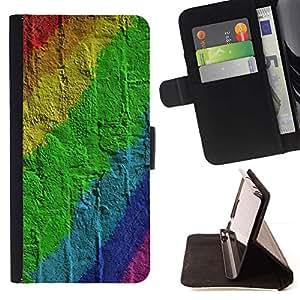 ForSamsung Galaxy S3 MINI i8190 (NOT S3) Case , Pared de ladrillo Patrón Gay- la tarjeta de Crédito Slots PU Funda de cuero Monedero caso cubierta de piel