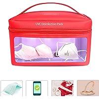 WXCC Esterilizador UV Bolsa, portátil desinfectante desinfección Ultravioleta Paquete con USB Alimentado por Biberón/Ropa Interior/Cepillo de Dientes/Herramientas de Belleza/joyería,Red