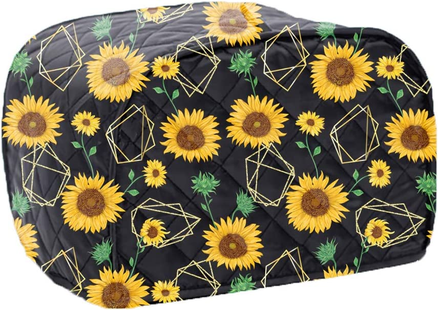 2-Slice Toaster Cover, Bread Toaster Oven Dustproof Cover, Waterproof Kitchen Small Appliance Cover Kitchen Broiler Appliance Organizer Bag Anti Fingerprint Protection For Woman Gift-Sunflower Pattern (Sunflower)
