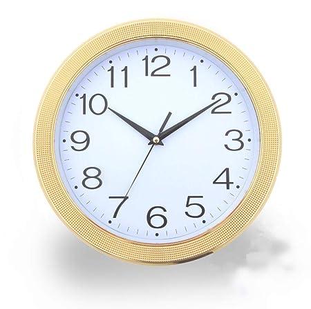 GWFVA Reloj de Pared de plástico Redondo Reloj de Pared de ...