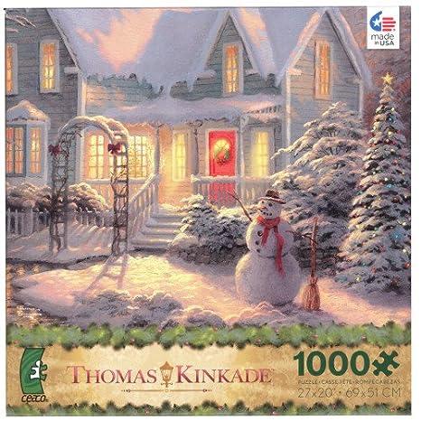 amazon com thomas kinkade christmas puzzle holiday blessings toys