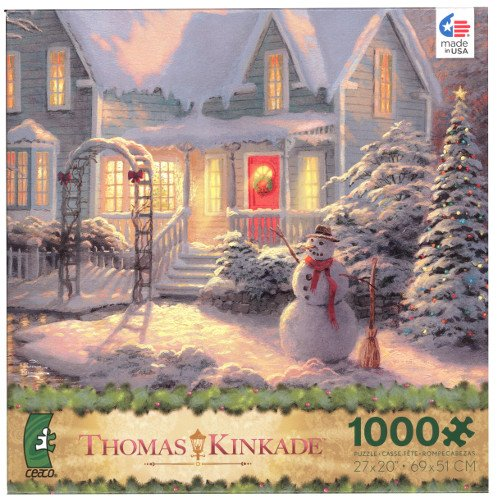 THOMAS KINKADE Christmas Puzzle Holiday Blessings