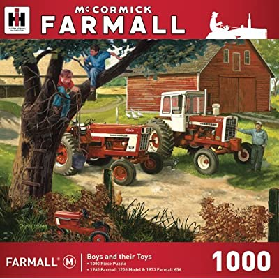 MasterPieces Farmall Boys and Their Toys - Vintage Tractors 1000 Piece Jigsaw Puzzle by Charles Freitag: Toys & Games
