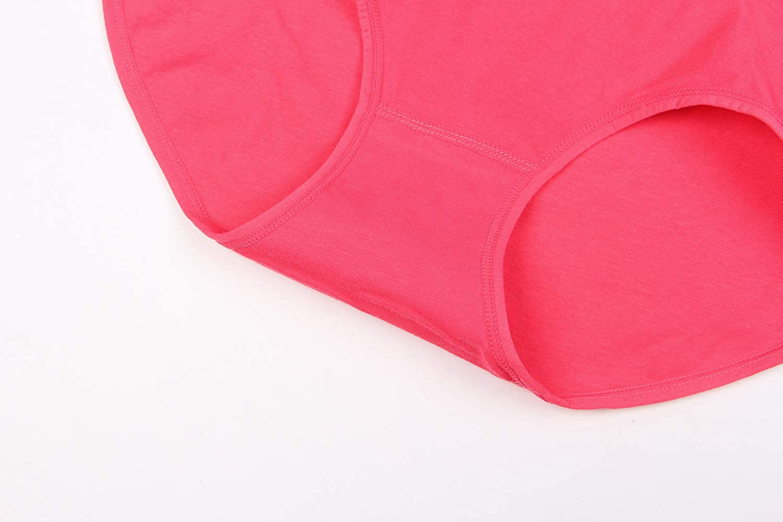 HONFON 4 Pack Womens Underwear Cotton Panties Full Briefs High-Waisted Knickers HONFON1122