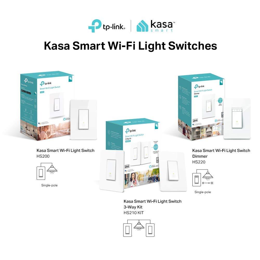 Tplink Smart Wifi Light Switch No Hub Required Single Pole Control