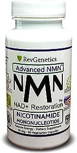 RevGenetics Advanced NMN™: 50 mg Nicotinamide Mononucleotide - Restore Energy Di