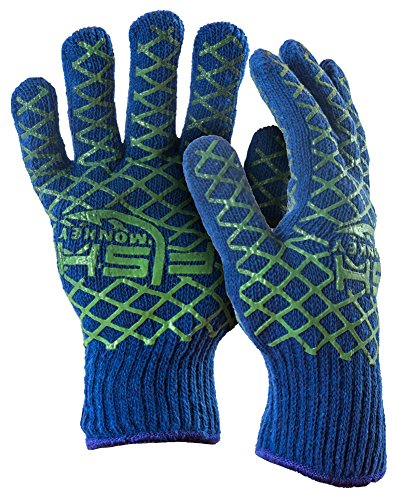 Fish Monkey Snot Glove (Neon Green/Royal Blue, Large/X-Large)