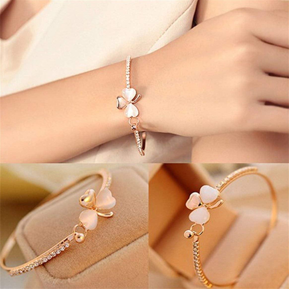 Kongqiabona-UK High-end design ladies clover bracelet elegant ladies wild clothes bracelet bracelet bracelet beautiful jewelry gift