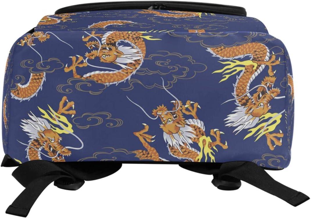 AUUXVA Backpack China Chinese Dragon Ethnic Durable Laptop Travel Shoulder Bag Hiking for Women Girls Men Boys