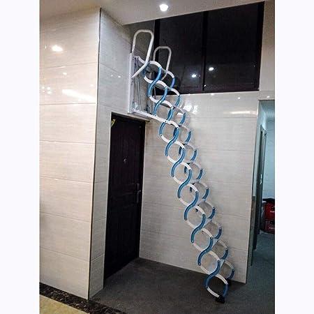 NICOLAS Escalera telescópica para Colgar en la Pared al Aire Libre, con Plataforma Duplex, escaleras Plegables Simples, escaleras eléctricas retráctiles de 1 a 3,5 m, Escalera: Amazon.es: Hogar