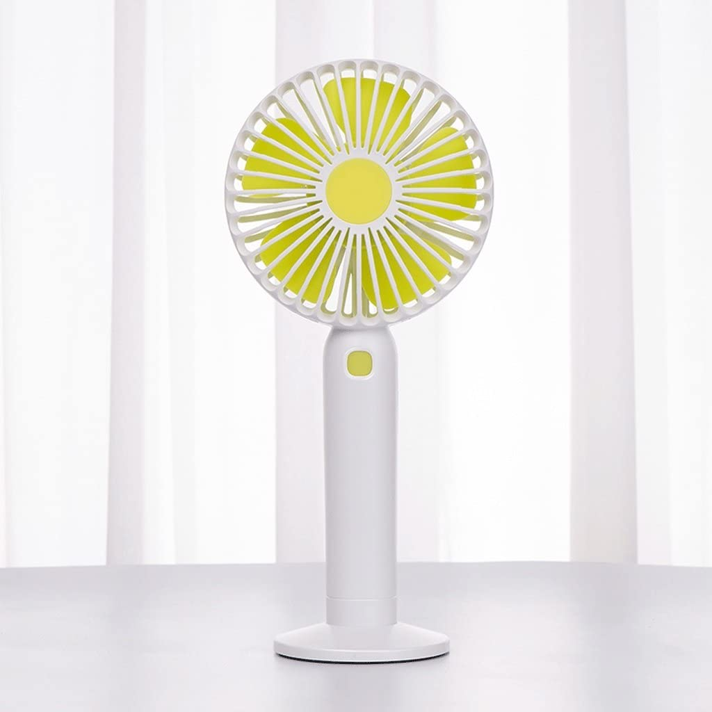 Handheld With Battery To Carry Mini Office Desktop Portable Desktop Fan Student Dormitory Family Travel Fan Air Circulator Ultra-quiet USB Fan USB Rechargeable Plastic Fan Color : White