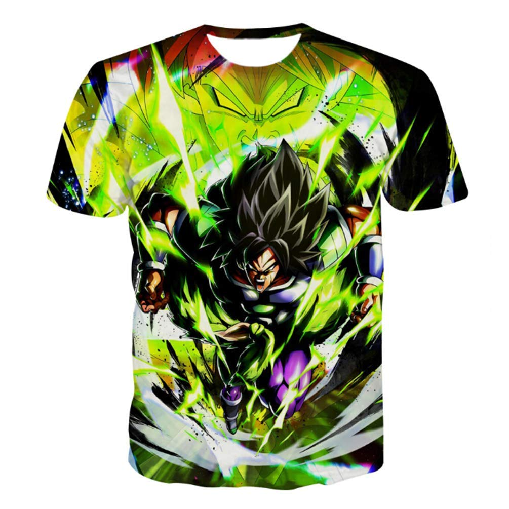 20506d4a Men Dragon Ball Z T-Shirt brolly DBZ Goku Sports Short Sleeve Jersey Tops  WER-5 at Amazon Men's Clothing store: